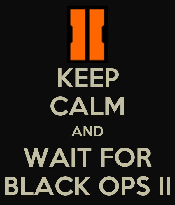 Keep calm and wait for black ops ii poster michael keep calm o matic - Black and wait ...