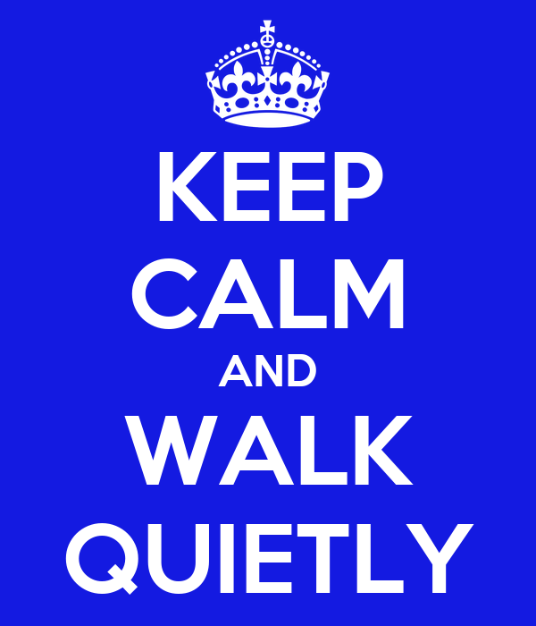 keep calm and walk quietly poster mint keep calm o matic. Black Bedroom Furniture Sets. Home Design Ideas