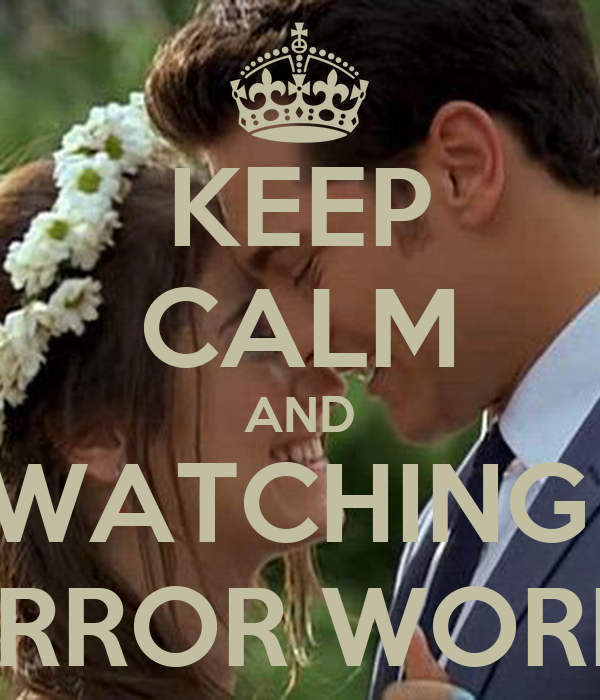 Keep calm and watching mirror world poster for Mirror 0 matic