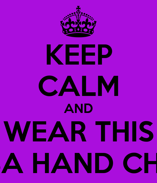 KEEP CALM AND WEAR THIS HAMSA HAND CHOKER
