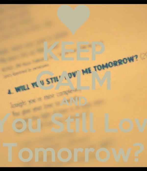 will you still love me tomorrow pdf