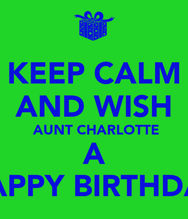 happy birthday images for aunt charlotte