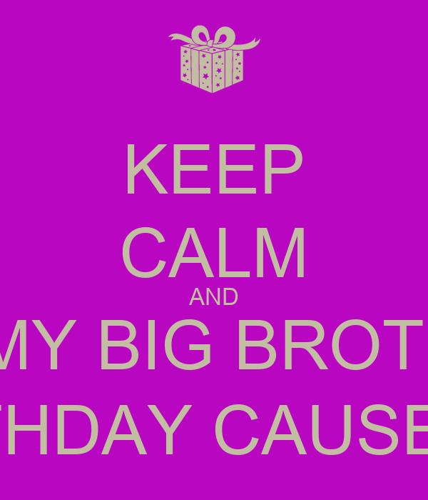 Keep calm and wish my nephew happy birthday poster