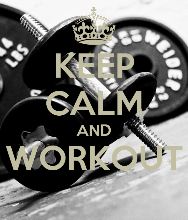 keep calm and workout wallpaper