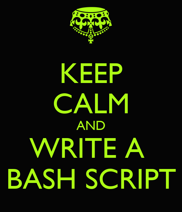 Write a bash script with options