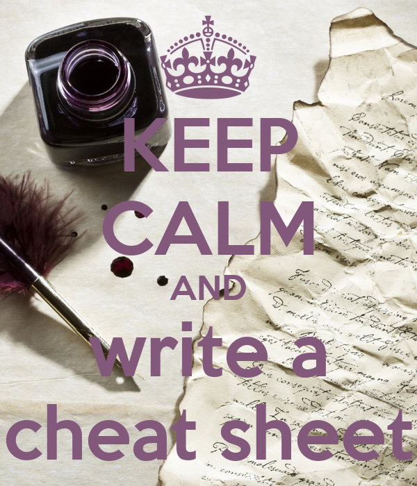 how to write a good cheat sheet