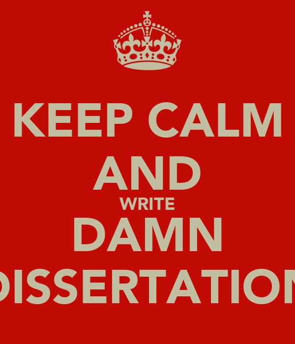 write a dissertation in 3 months