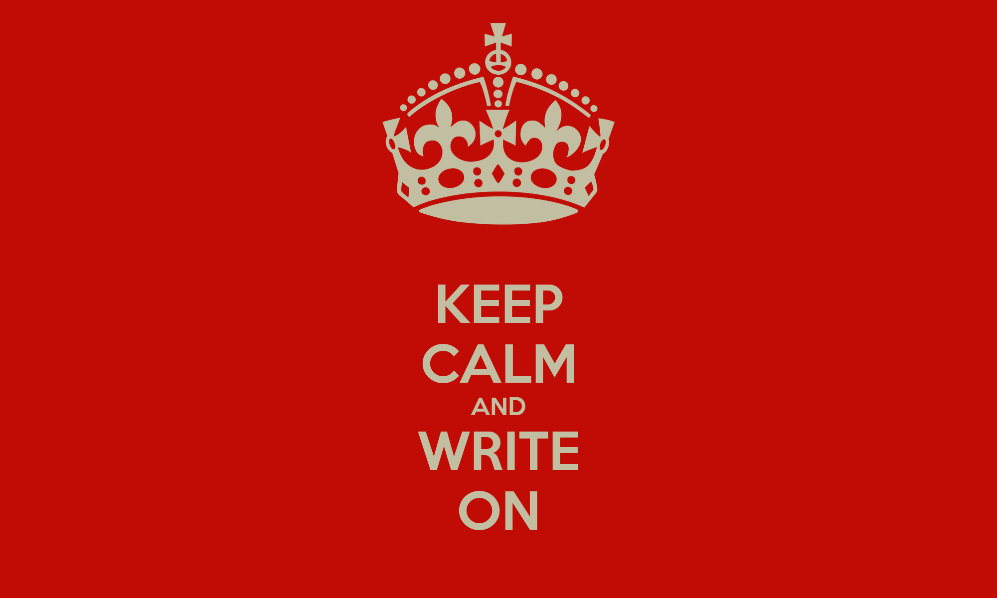 Keep calm and write your master thesis