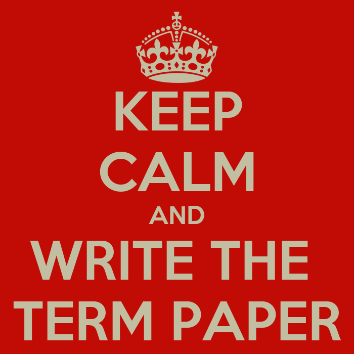 i papers term Writing a term paper from scratch is far from being a simple assignment this type of task takes quite a while to complete, and the requirements imposed by teachers are often very hard to meet this is why many students experience stress and anxiety when faced with it.