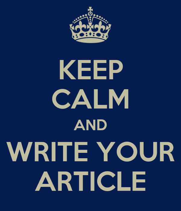 Image result for Write your article