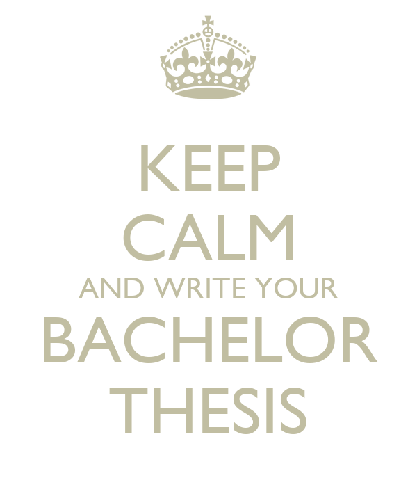 how to write a bachelor thesis Thesis work starts from choosing a topic the student must write a report on their work, in accordance with the jamk´s project reporting instructions once the.