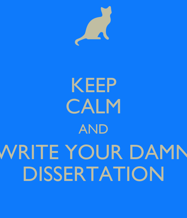 How to write a dissertation in 4 months
