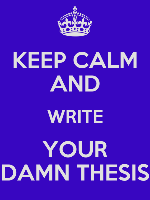 Writing Your Thesis: Advice and Tips – MESA