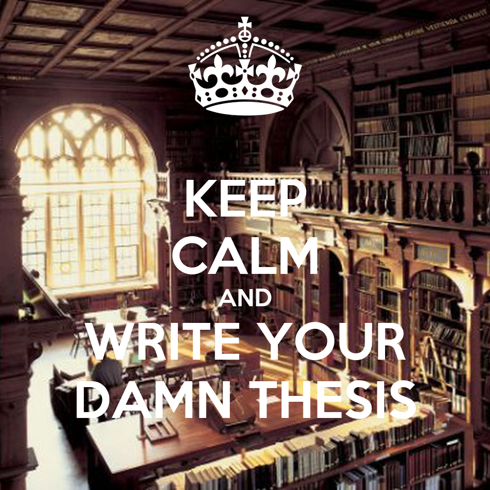 write your thesis in 3 months