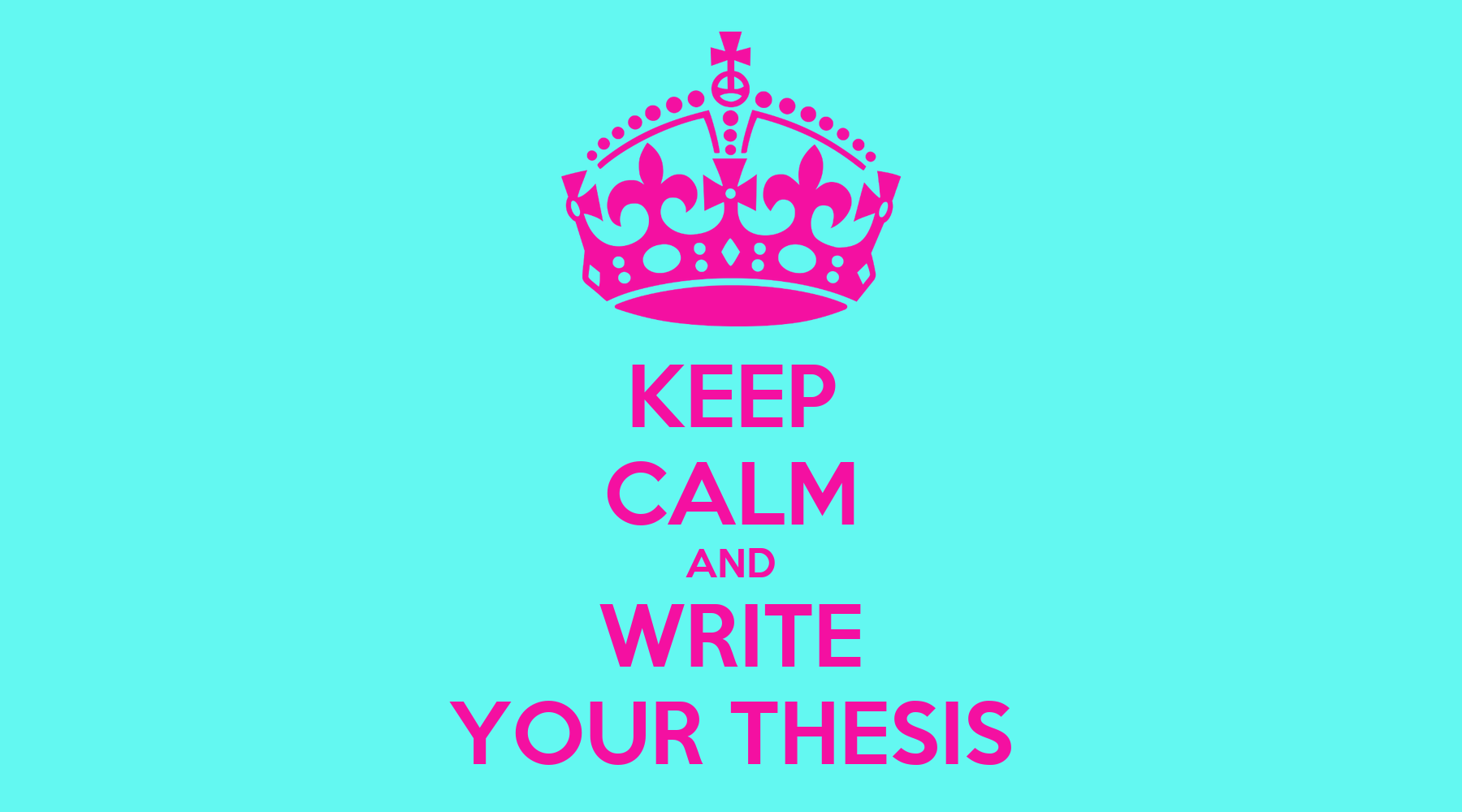 Writing a phd thesis in one month