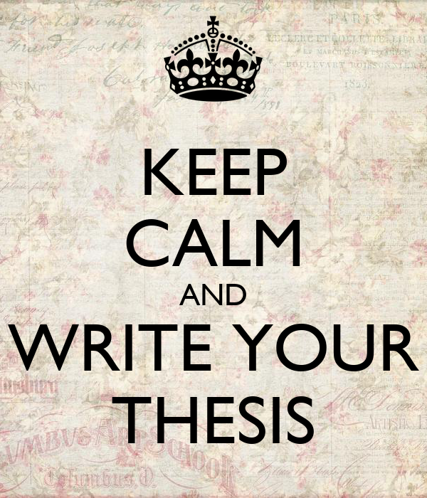 writing your thesis in one month Can i write my 10000 word dissertation in four weeks  writing up your  bibliography can be a bit of a beast, depending on how many  working on their  dissertation for months, it doesn't automatically mean that it will be.