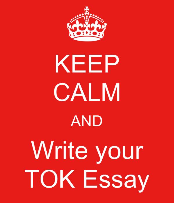 Help writing tok essay