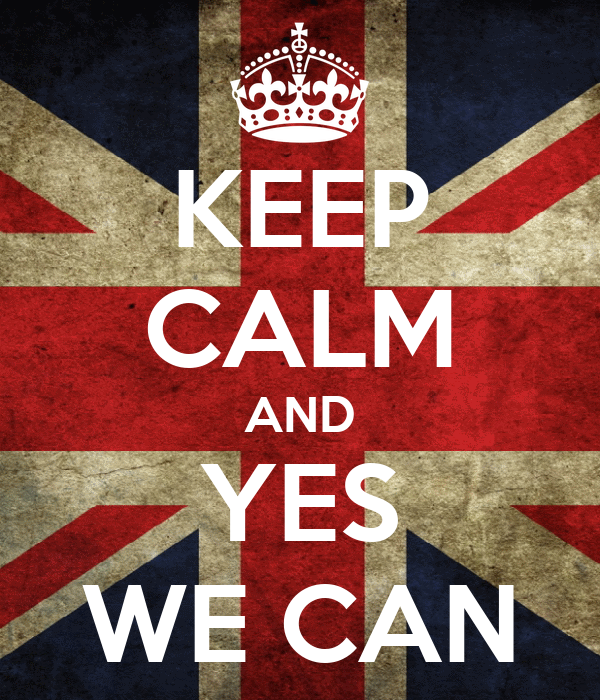 Keep calm and yes we can poster y keep calm o matic for Bett yes we can