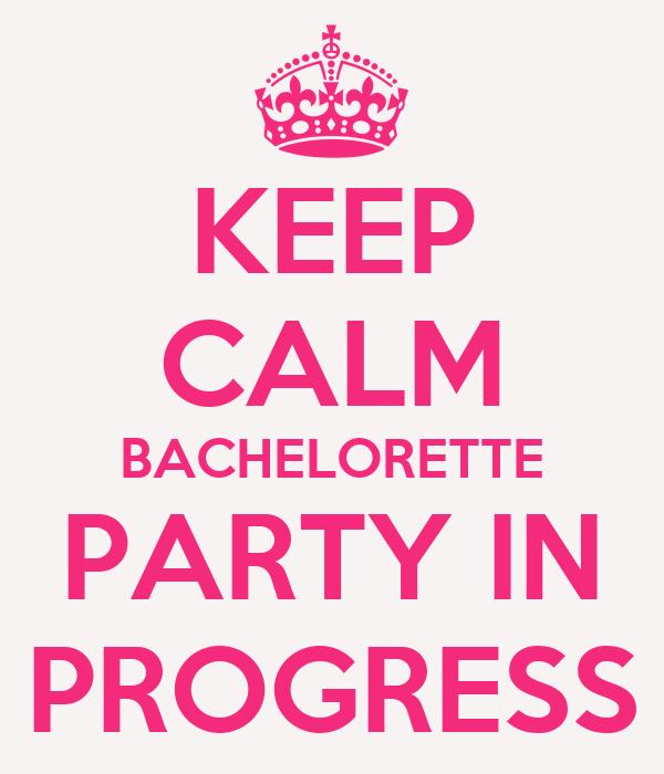 Garage door clip art - Keep Calm Bachelorette Party In Progress Poster