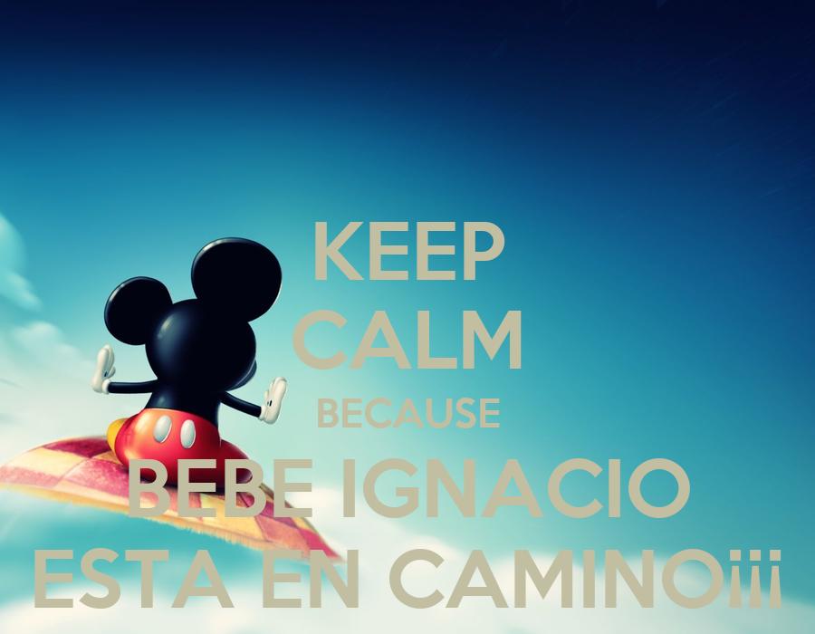 Keep calm because bebe ignacio esta en camino keep - Bebe en camino ...
