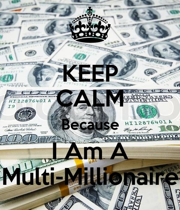 """Résultat de recherche d'images pour """"keep calm i'm a millionar"""""""