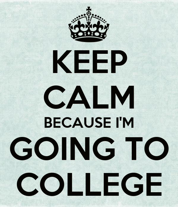 keep calm because i m going to college poster clare keep calm o