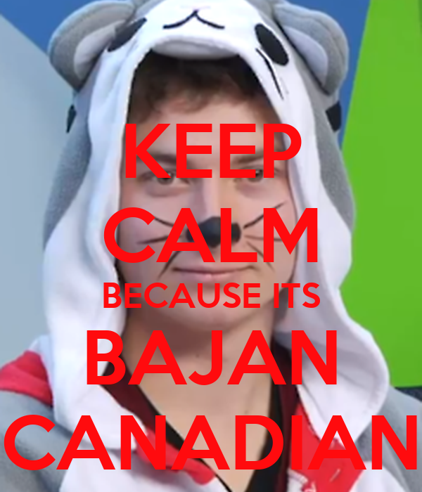 KEEP CALM BECAUSE ITS BAJAN CANADIAN