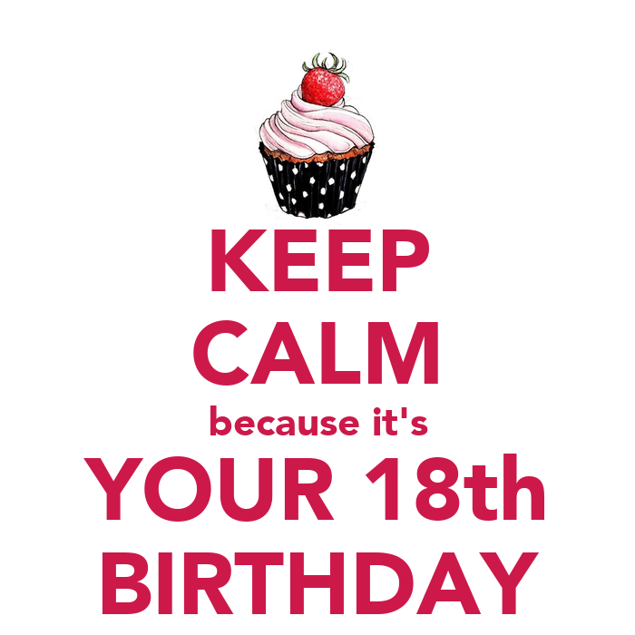 KEEP CALM Because It's YOUR 18th BIRTHDAY Poster