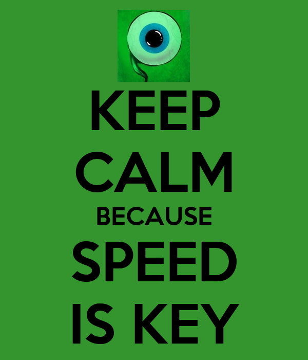 Keep Calm Because Speed Is Key Poster Theadamantflame