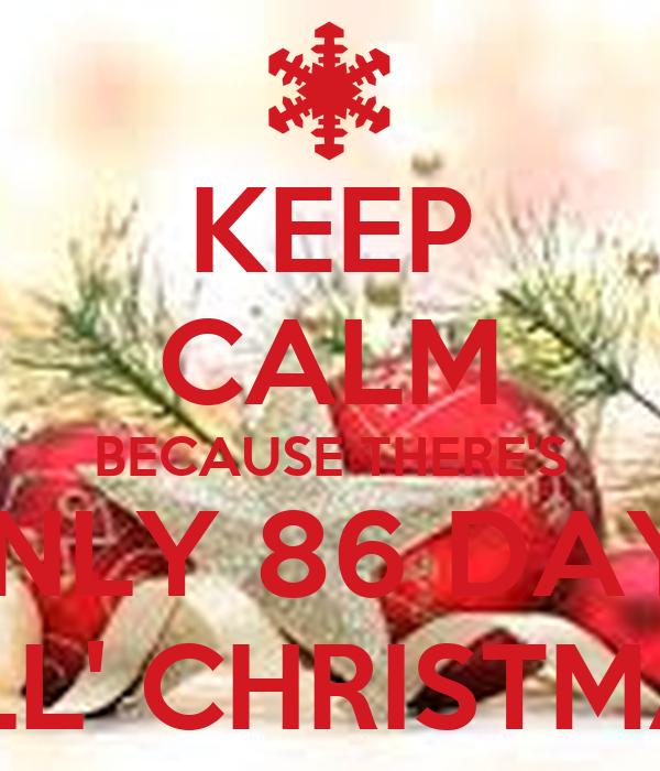 86 DAYS TILL' CHRISTMAS Poster