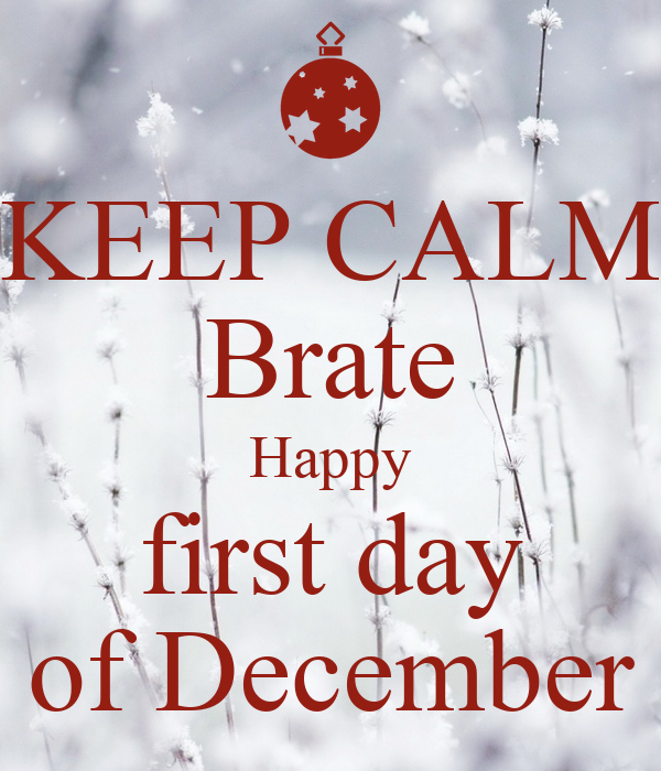 Keep Calm Brate Happy First Day Of December Poster
