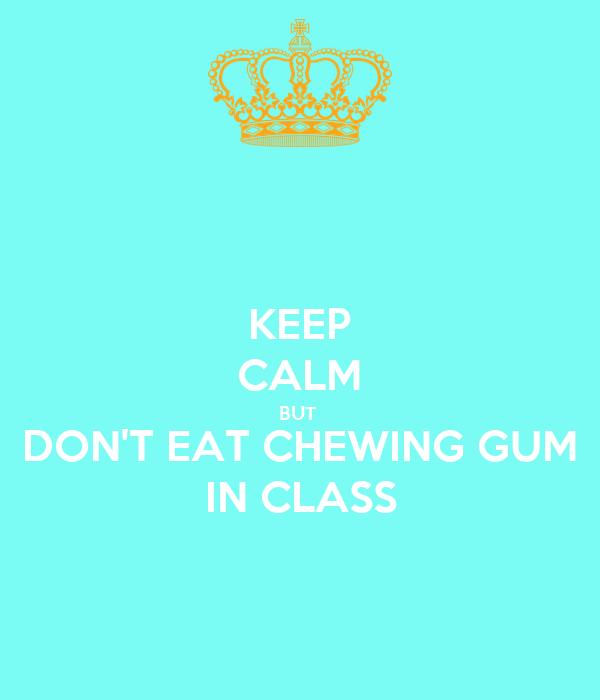 chewing gum in class essay help