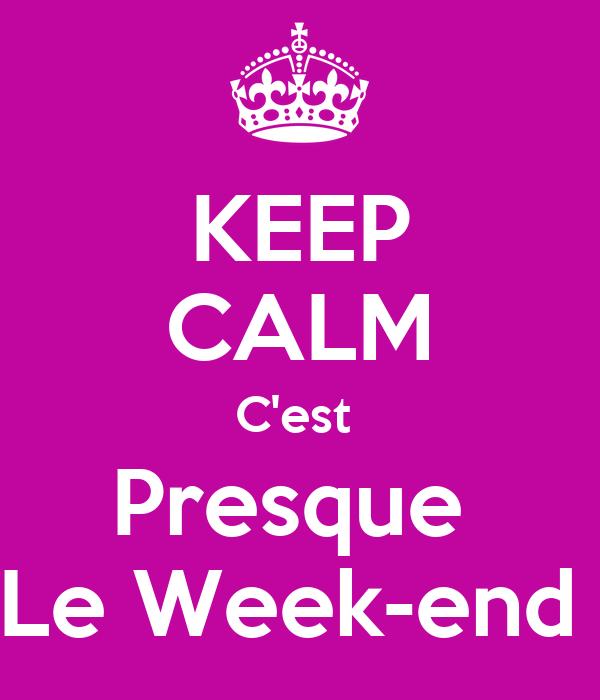 keep calm c 39 est presque le week end poster brigitte keep calm o matic. Black Bedroom Furniture Sets. Home Design Ideas