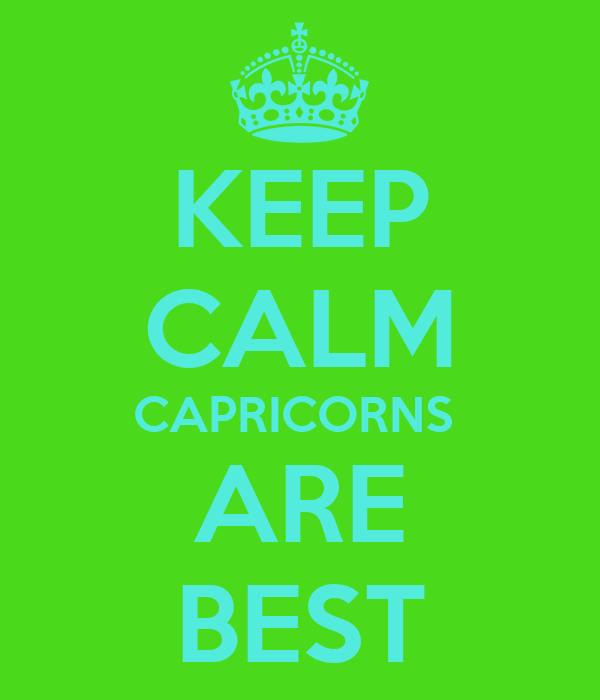 Capricorns are the best