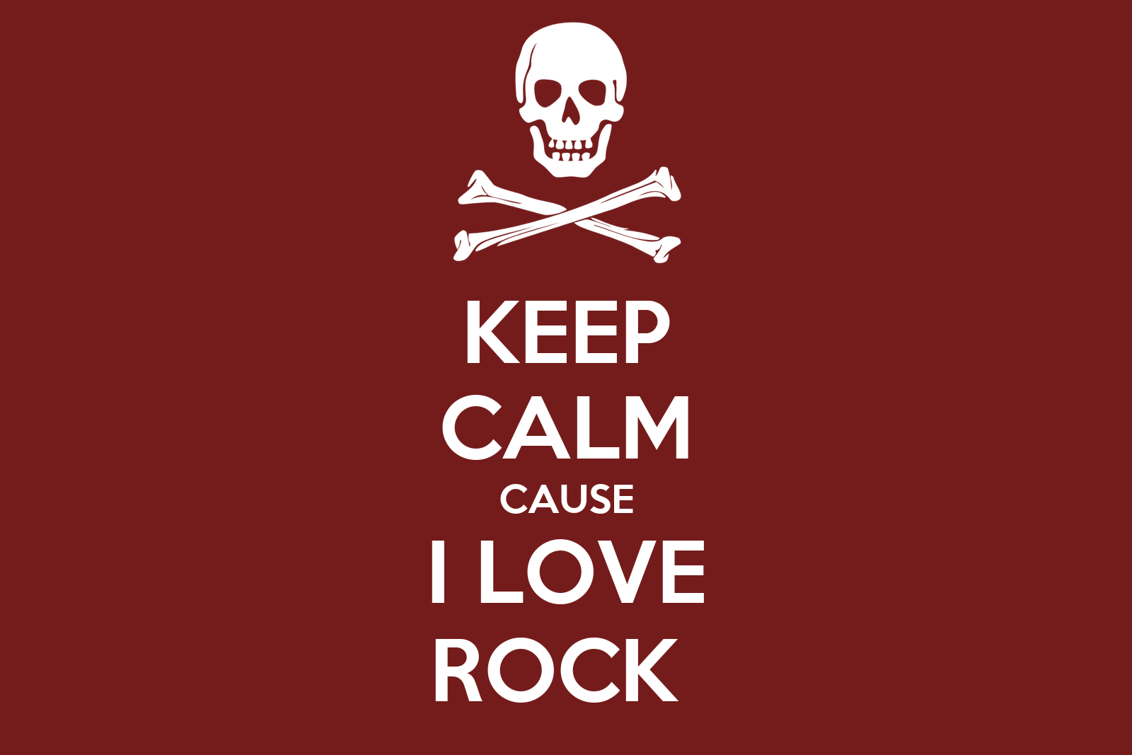 KEEP CALM CAUSE I LOVE ROCK Poster
