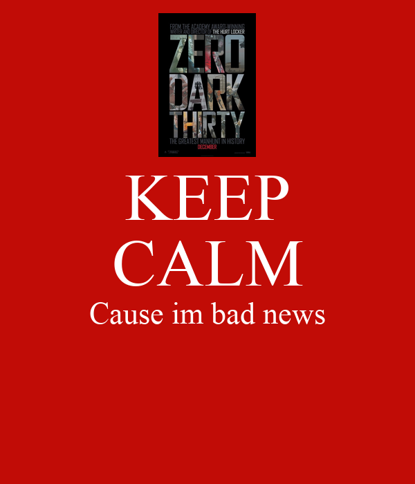 keep calm cause im bad news poster hh keep calm o matic. Black Bedroom Furniture Sets. Home Design Ideas
