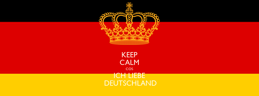 keep calm cos ich liebe deutschland poster bibas keep. Black Bedroom Furniture Sets. Home Design Ideas