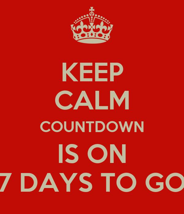 7 Days To Go  Home  Facebook