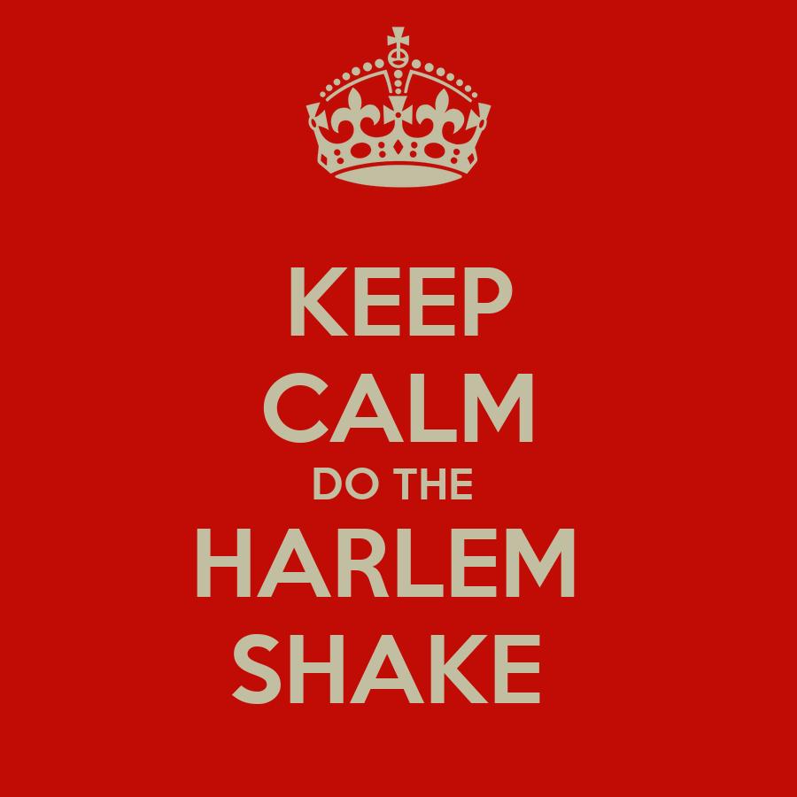 KEEP CALM DO THE  HARLEM  SHAKE