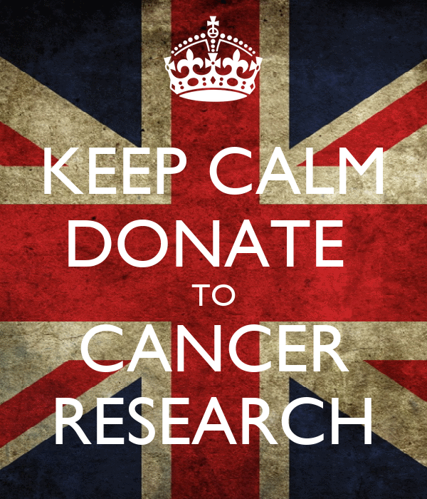 KEEP CALM DONATE TO CANCER RESEARCH Poster