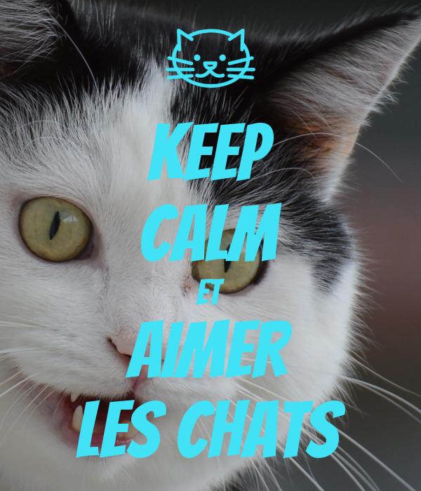 KEEP CALM ET AIMER LES CHATS Poster | Jeesie | Keep Calm-o
