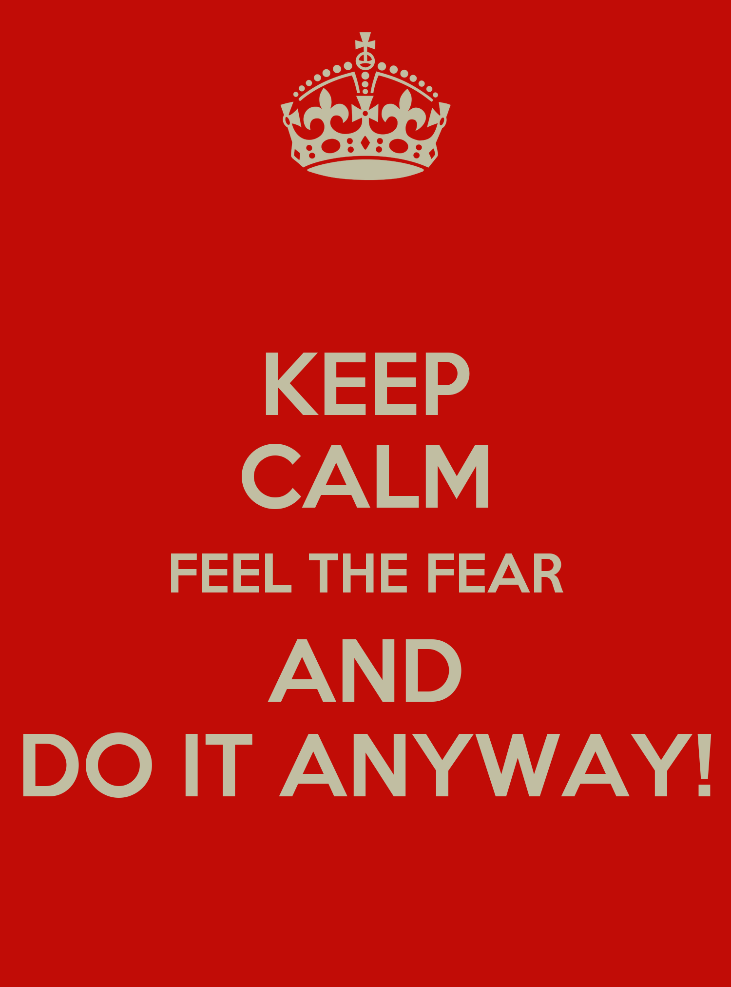 feel the fear and do it The paperback of the feel the fear and do it anyway by susan jeffers at barnes & noble free shipping on $25 or more.