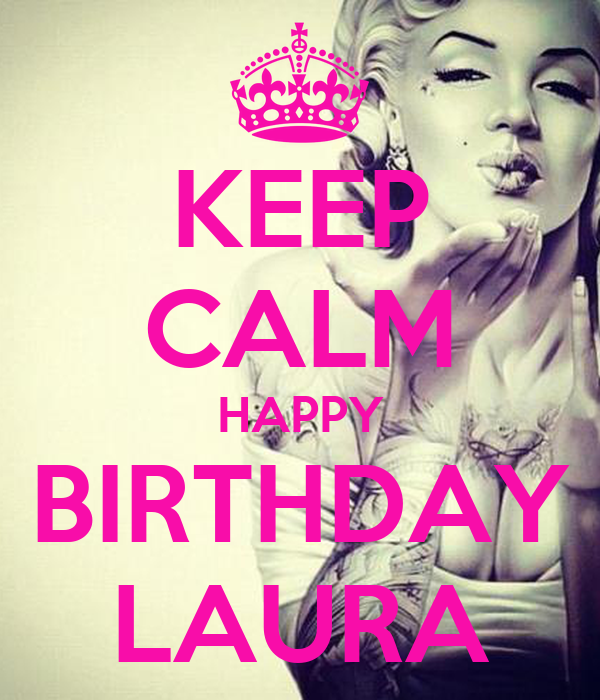 KEEP CALM HAPPY BIRTHDAY LAURA Poster