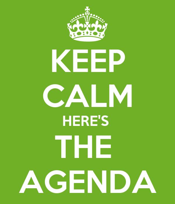 Doc 555303 Agenda On The Agenda 78 Related Docs