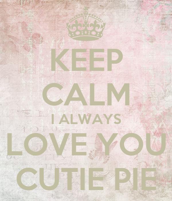 when someone calls you cutie pie