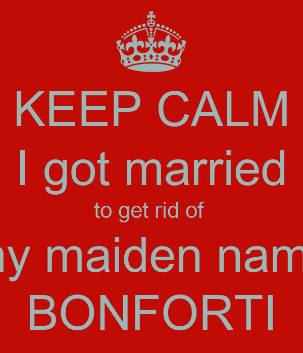 to write maiden and married names