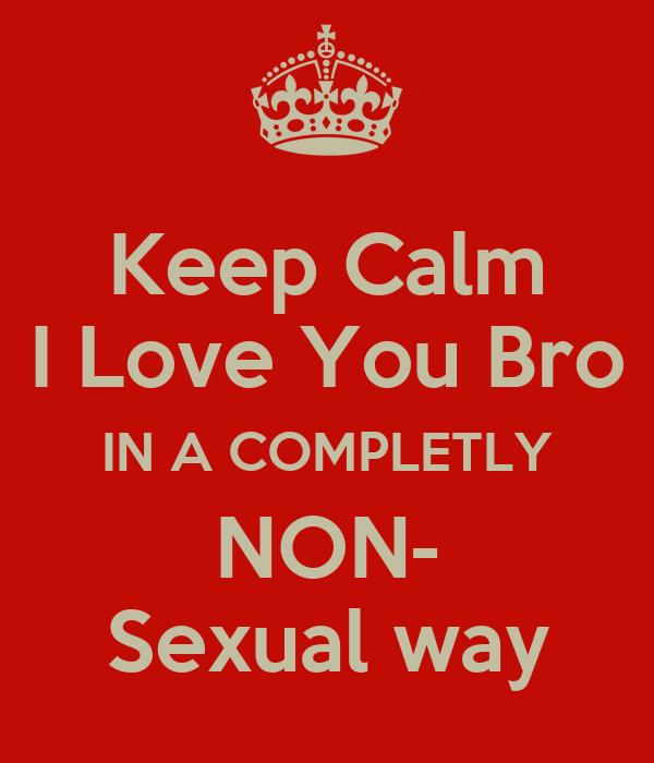 Non sexual love