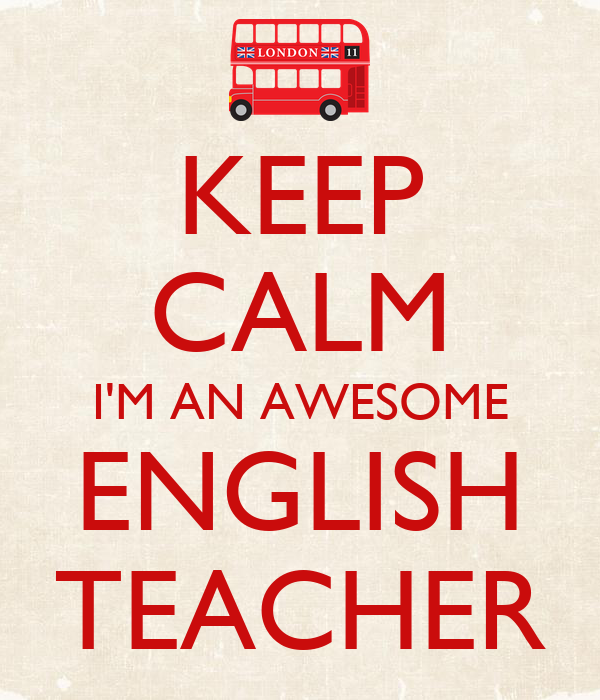 Keep calm i 39 m an awesome english teacher poster albina for Awesome englisch