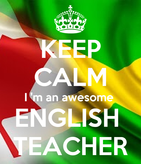 Keep calm i 39 m an awesome english teacher poster mark for Awesome englisch