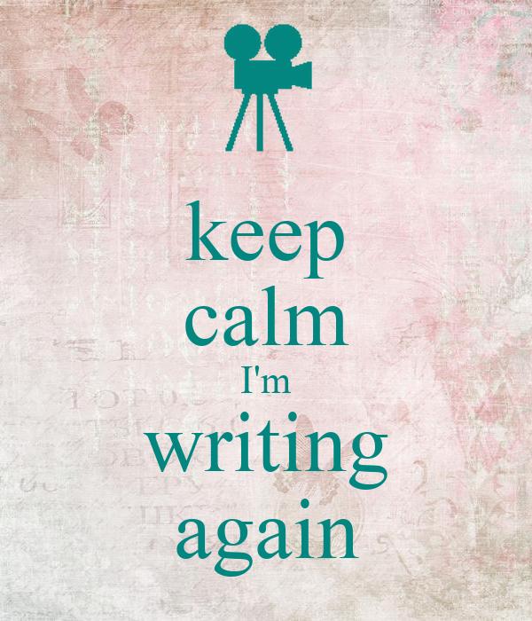 i m writing